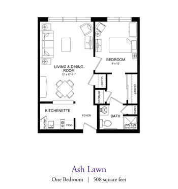 Floorplan of Our Lady Of Peace, Assisted Living, Nursing Home, Independent Living, CCRC, Charlottesville, VA 13