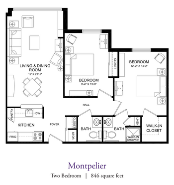 Floorplan of Our Lady Of Peace, Assisted Living, Nursing Home, Independent Living, CCRC, Charlottesville, VA 18