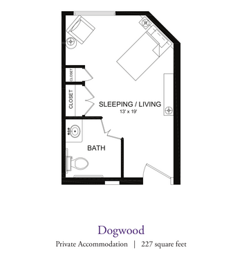 Floorplan of Our Lady Of Peace, Assisted Living, Nursing Home, Independent Living, CCRC, Charlottesville, VA 19