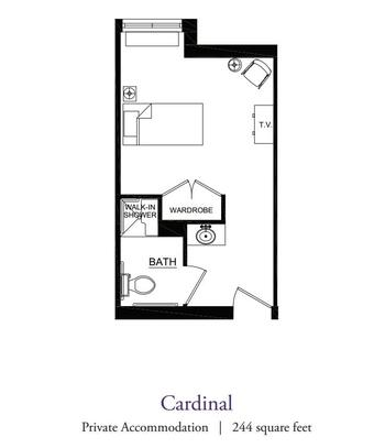 Floorplan of Our Lady Of Peace, Assisted Living, Nursing Home, Independent Living, CCRC, Charlottesville, VA 7