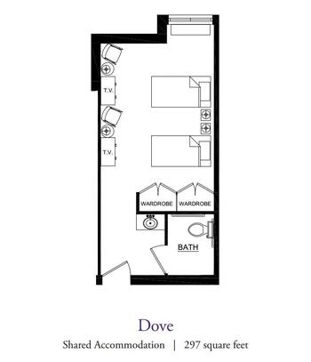 Floorplan of Our Lady Of Peace, Assisted Living, Nursing Home, Independent Living, CCRC, Charlottesville, VA 9