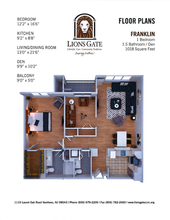Floorplan of Lions Gate, Assisted Living, Nursing Home, Independent Living, CCRC, Voorhees, NJ 7