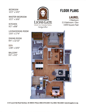 Floorplan of Lions Gate, Assisted Living, Nursing Home, Independent Living, CCRC, Voorhees, NJ 10