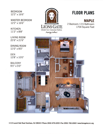 Floorplan of Lions Gate, Assisted Living, Nursing Home, Independent Living, CCRC, Voorhees, NJ 11