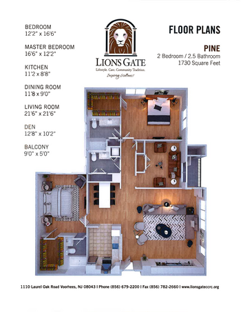 Floorplan of Lions Gate, Assisted Living, Nursing Home, Independent Living, CCRC, Voorhees, NJ 13