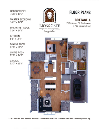 Floorplan of Lions Gate, Assisted Living, Nursing Home, Independent Living, CCRC, Voorhees, NJ 14