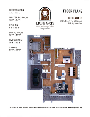 Floorplan of Lions Gate, Assisted Living, Nursing Home, Independent Living, CCRC, Voorhees, NJ 15